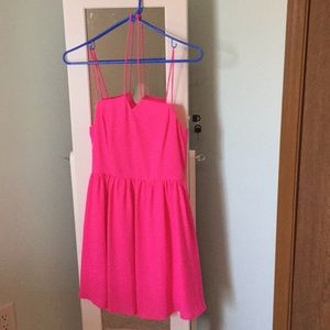 New with tags hot pink halter dress